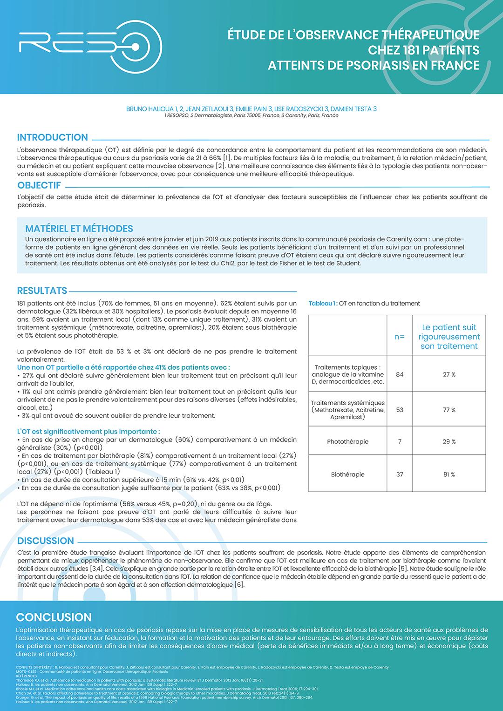 2019-11-POSTER-ETUDES-DE-L-OBSERVANCE-PATIENTS-BIOTHERAPIES